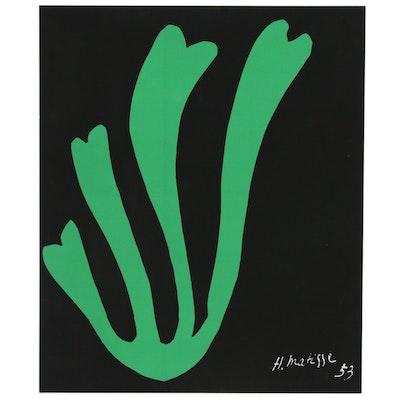 "Serigraph after Henri Matisse ""Algue Verte"""