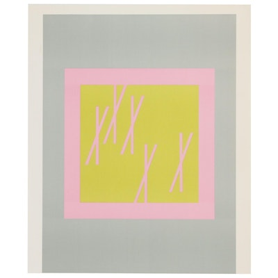 "Lithograph after Josef Albers ""Interaction of Color"""