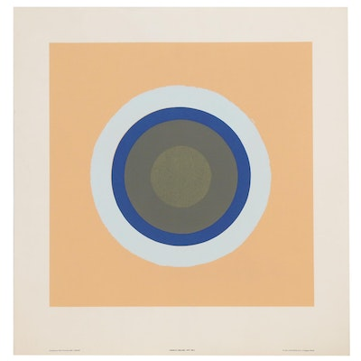 "Serigraph after Kenneth Noland ""Gift"""