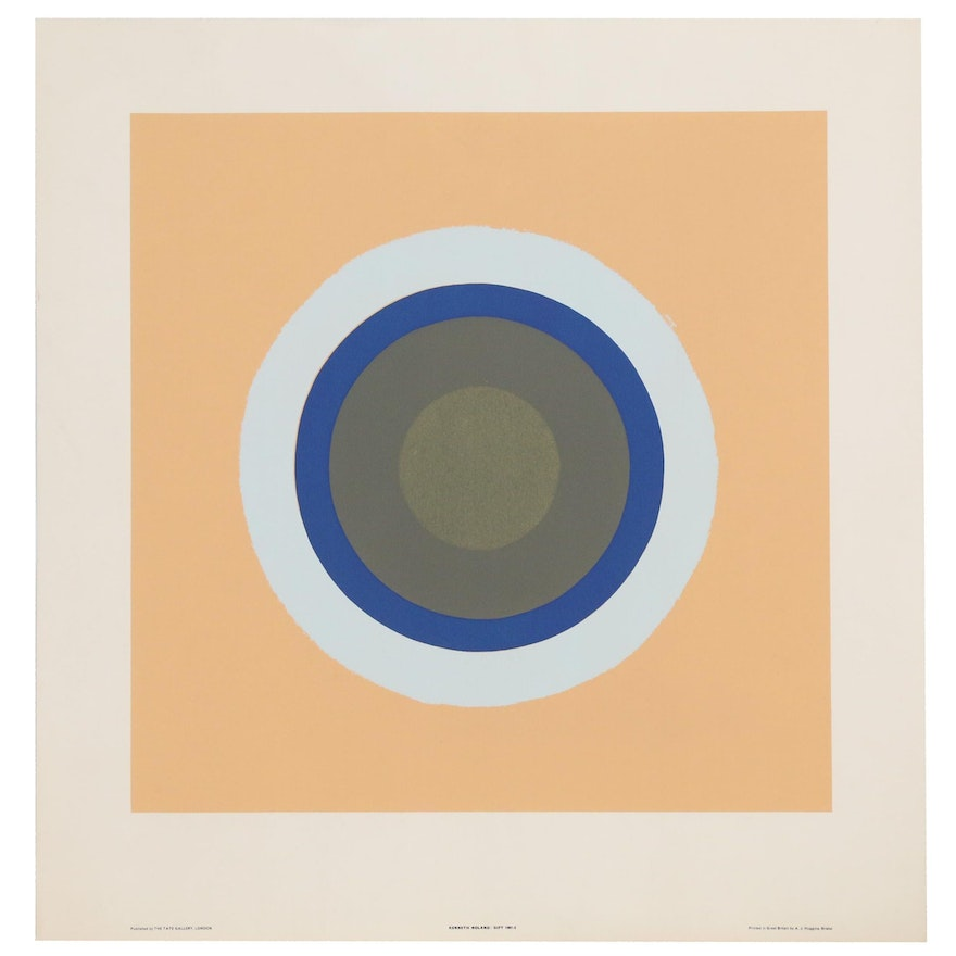"""Serigraph after Kenneth Noland """"Gift"""""""
