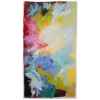 Large-Scale Abstract Acrylic Painting