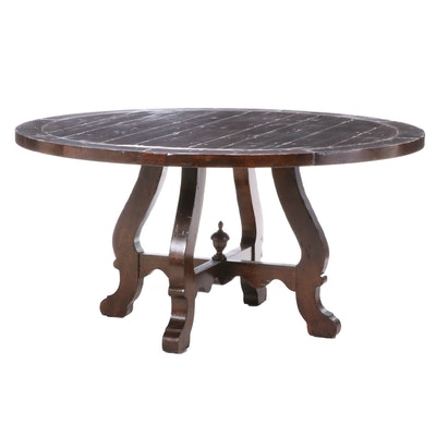 Stained Wood Dining Table, Late 20th Century