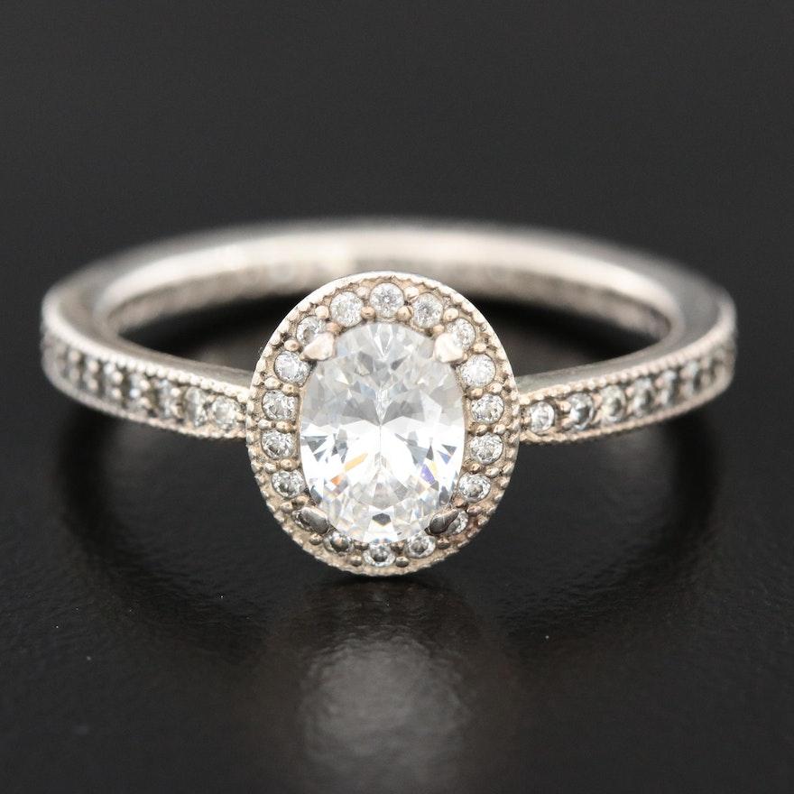 Pandora Sterling Silver Cubic Zirconia Ring