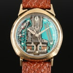 Bulova Accutron Spaceview 14K Gold Wristwatch