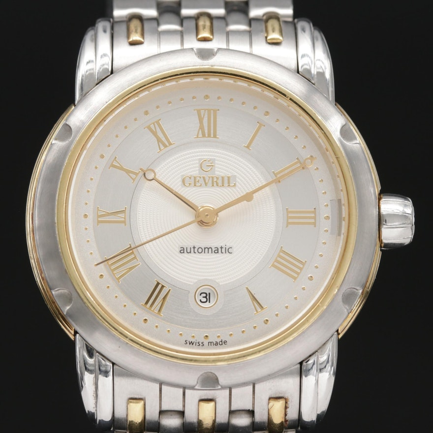 Gevril First Generation 18K and Stainless Steel Automatic Wristwatch