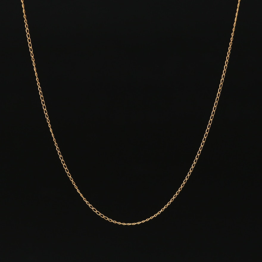 14K Yellow Gold Curb Chain Necklace