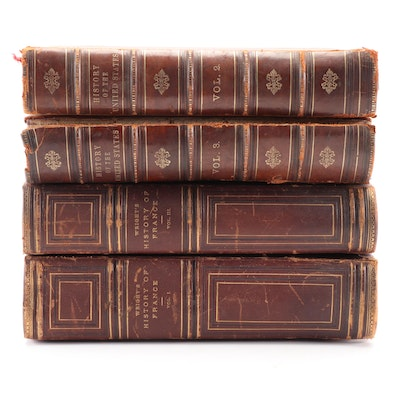 American and French History Books, Mid to Late 19th Century