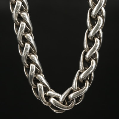 David Yurman Sterling Wheat Chain Necklace
