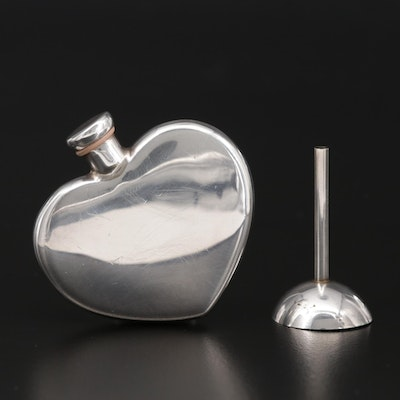 Tiffany & Co. Sterling Silver Perfume Decanter and Funnel