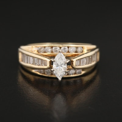 14K Gold 1.06 CTW Diamond Ring
