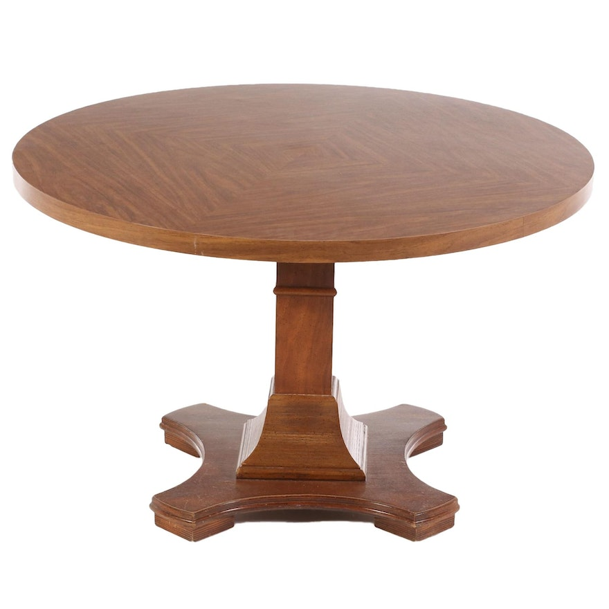 Round Pedestal Dining Table, Mid to Late 20th Century