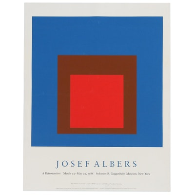 Serigraph Exhibition Poster for Josef Albers at Guggenheim, 1988