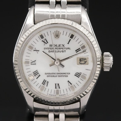 1965 Rolex Datejust 14K Gold and Stainless Steel Automatic Wristwatch