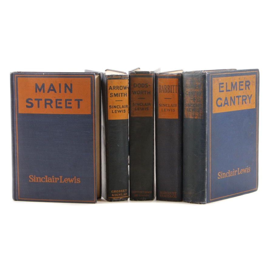 """Sinclair Lewis Books Featuring First Printings """"Elmer Gantry"""" and """"Dodsworth"""""""