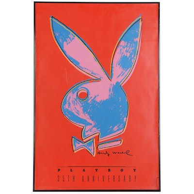 "Serigraph Designed by Andy Warhol for ""Playboy"" 35th Anniversary"