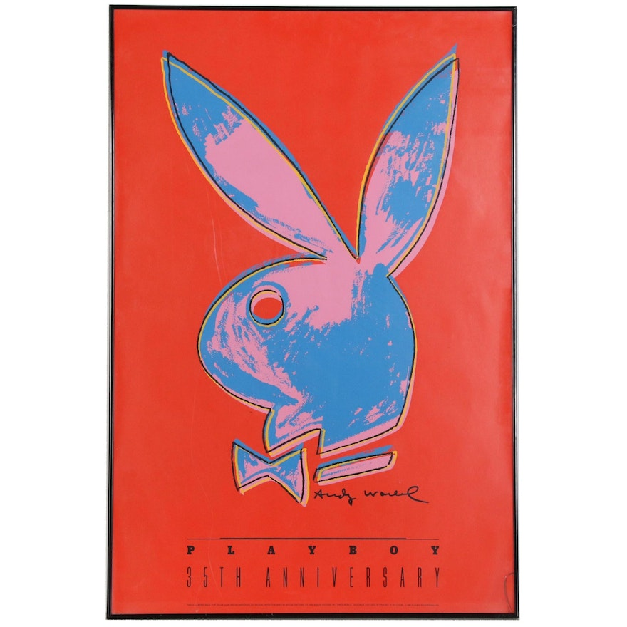 """Serigraph Designed by Andy Warhol for """"Playboy"""" 35th Anniversary"""