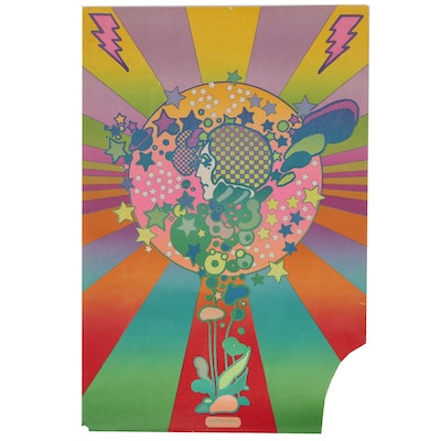 "Lithograph after Peter Max ""Adam Cosmo"""