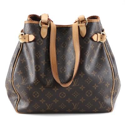 Louis Vuitton Batignolles Shoulder Bag in Monogram Canvas and Vachetta Leather