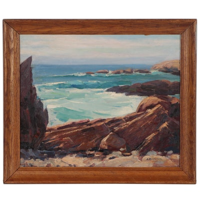 Abraham Rosenthal Seascape Oil Painting