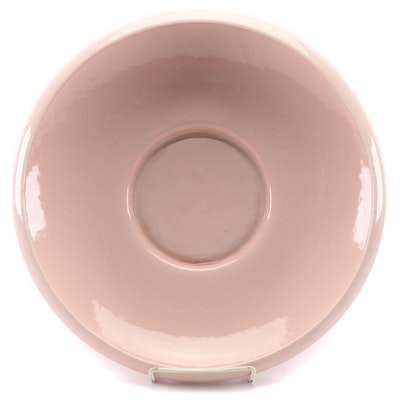 Rookwood Pottery Pink Glaze Earthenware Low Bowl, 1950