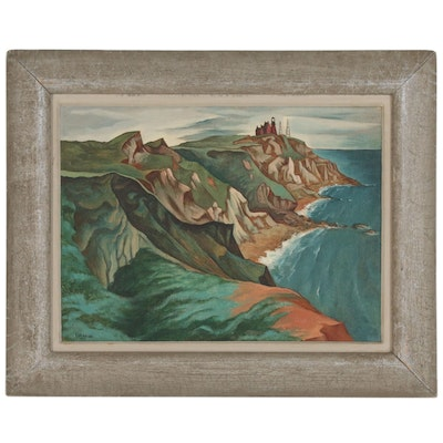 Francis Peabody Colburn Oil Painting of Cliffside