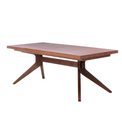 "Matthew Hilton for Case Walnut ""Cross Extension Table"""