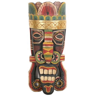 Papau New Guinea Wood Painted Mask