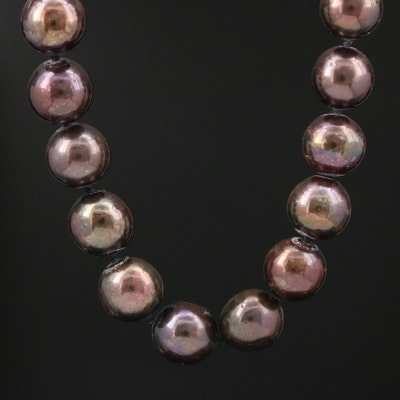 Individually Knotted 14K Gold Cultured Pearl Necklace