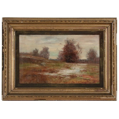 Impressionist Autumnal Landscape Oil Painting, Early 20th Century