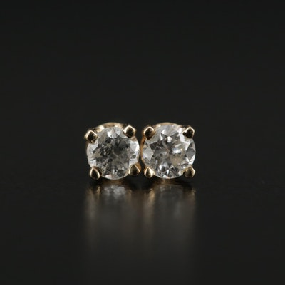14K Yellow Gold 0.20 CTW Diamond Solitaire Earrings