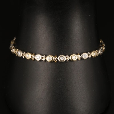14K Yellow and White Gold 1.00 CTW Diamond Bracelet