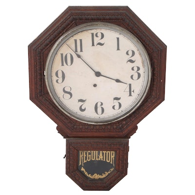 Regulator Schoolhouse Wall Clock, Early to Mid 20th Century