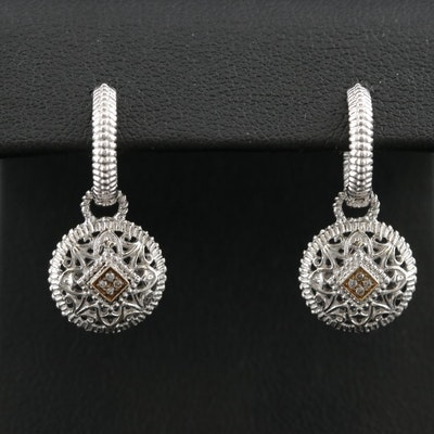 Gabriel & Co. Sterling Diamond Drop Earrings