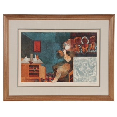 Alvar Sunol Munoz-Ramos Figural Color Lithograph