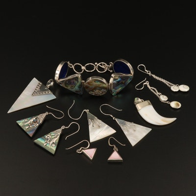 Assorted Sterling Silver Jewelry Featuring Mother of Pearl