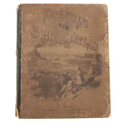 "1869 ""Mitchell's Modern Atlas"" with Forty-four Copperplate Maps"