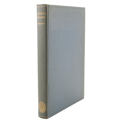 """1933 First Edition """"Aesthetic Measure"""" by George D. Birkhoff"""