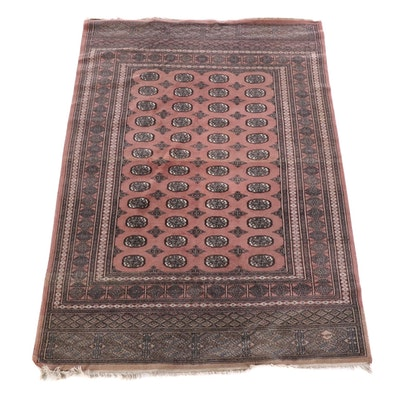 6'4 x 9'5 Hand-Knotted Afghan Bokhara Wool Rug