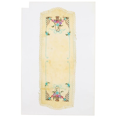 Karen Savage Life-Size Photograph of a Lace Table Runner