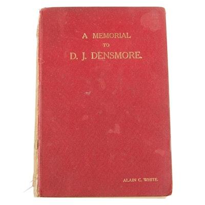 "Signed First Edition ""D. J. Desmore and The Densmore Memorial Tourney, 1918"""