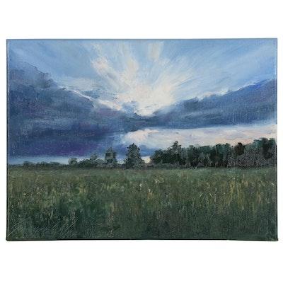 "Garncarek Aleksander Oil Painting ""Nad Polani"""