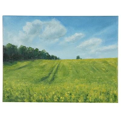"Garncarek Aleksander Oil Painting ""W Polach"""