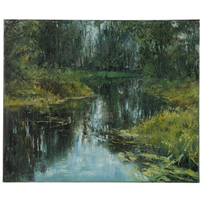 "Garncarek Aleksander Oil Painting ""Nad Wodg"""