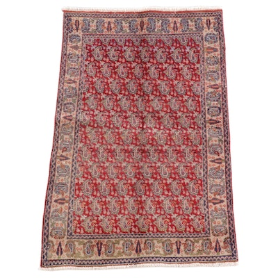 3'3 x 4'10 Hand-Knotted Afghan Khiva Wool Rug