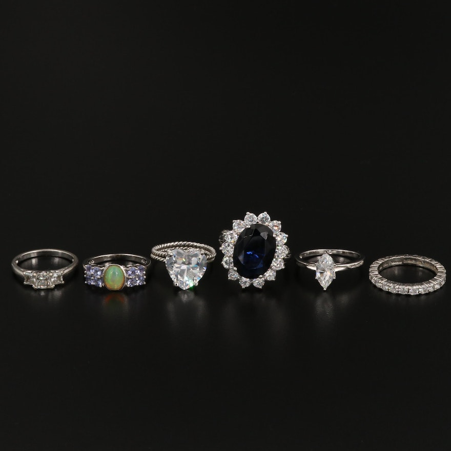 Sterling Silver Ring Selection Featuring Kenneth Jay Lane and Gemstone Accents