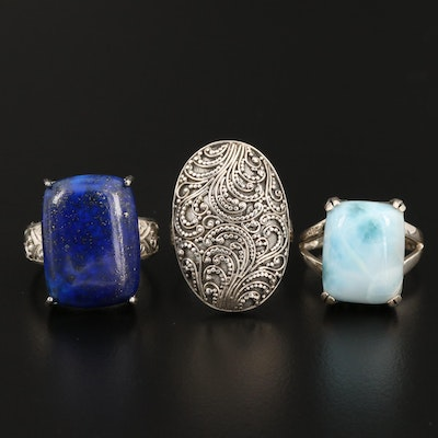 Sterling Silver Ring Featuring Sarda