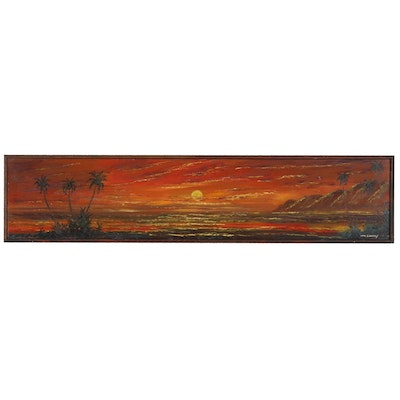 Dennis McGeary Oil Painting of Hawaiian Sunset Seascape