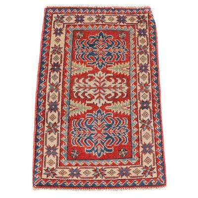 2'0 x 3'2 Hand-Knotted Pakistani Kazak Wool Rug