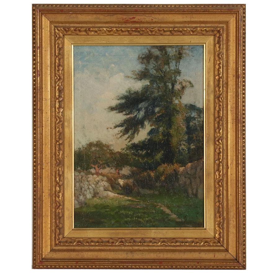 Eugene Leslie Smythe Landscape Oil Painting, 1897