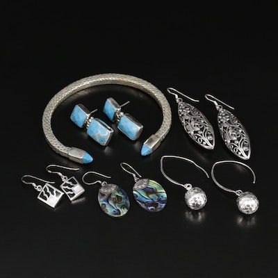 Sterling Silver Jewelry with Turquoise, Abalone and Mother of Pearl